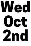 Wed Oct 2nd